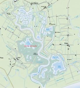 mappa valle franchetti